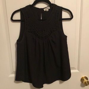 Storee black woven top size small
